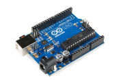 Arduino UNO Rev3: Uвх.: 7~12V, ATmega328 (FT232RL) + кабель USB